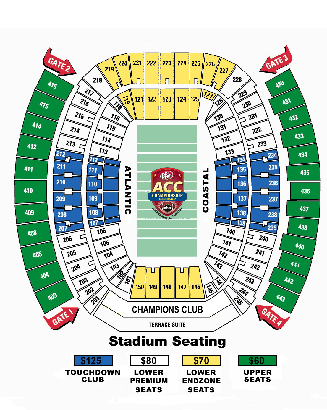Carolina Panthers Seating Chart & Map | SeatGeek