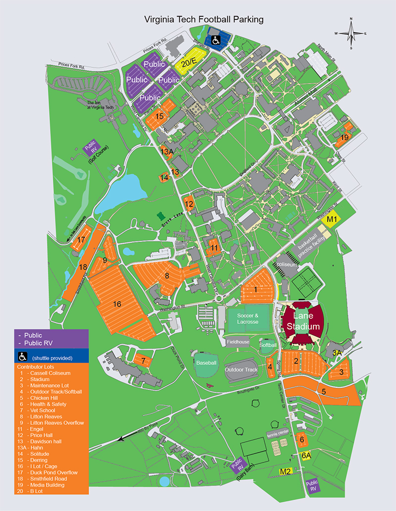 Vt Home Football Games Parking And Transportation Virginiatech